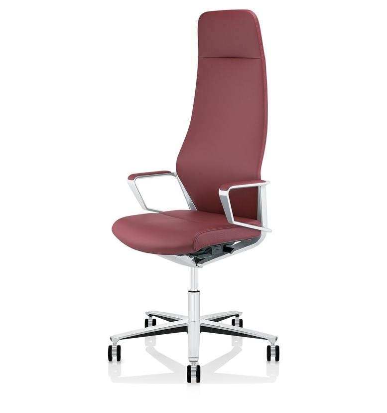 Zuco Signo High Back Executive Chair Red Leather