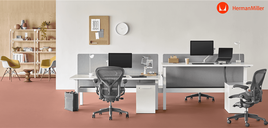 The New Herman Miller Nevi Height Adjustable Desk Range