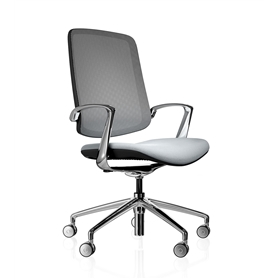 Boss Design Trinetic Dynamic Office Task Chair, Upholstered Seat