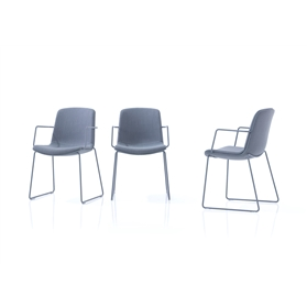 Orangebox Cubb Wire Arm Chair with Wire Base