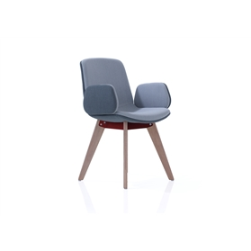 Orangebox Cubb Wooden Leg Meeting Chair with Upholstered Arms