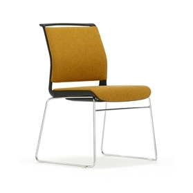 Senator Ad-Lib Skid Frame Fully Upholstered Meeting Chair