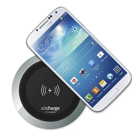 aircharge Wireless Surface Charger Black Aluminium