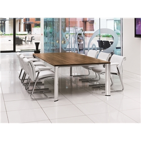 Boss Design Apollo Melamine Rectangular Table, Cable Managed Underframe