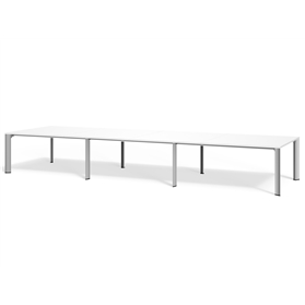 Boss Design Apollo Rectangular Table 8 Leg, Laminate Finish