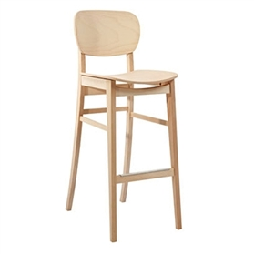 Verco Chalfont Medium Back Four Legged Wood Framed High Chair