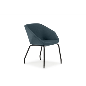 Torasen Clara Side Chair with 4 Leg Frame