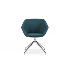 Torasen Clara Side Chair with Pyramid Base