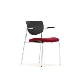 Torasen Contour Upholstered Seat Multi-Purpose Stacking Chair