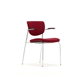 Torasen Contour Fully Upholstered Multi-Purpose Stacking Chair