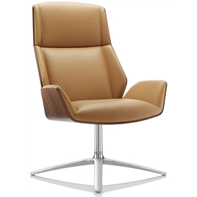 Boss Design Kruze Leather Lounge Chair High Back