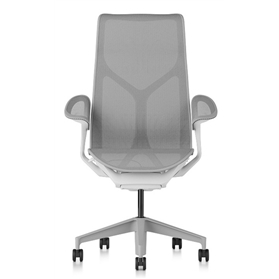 Herman Miller Cosm Studio White High Back Chair, Leaf Arms