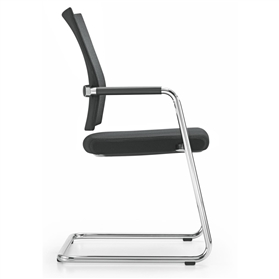 Girsberger Diagon Stackable Standard Back Cantilever Meeting Chair
