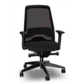 New Interstuhl Everyis1 EV211 Synchronous Mesh Office Chair, Jet Black Edition,