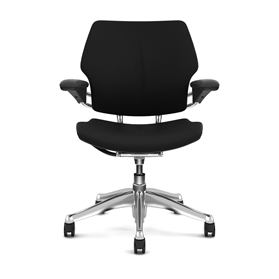 Humanscale Freedom Task Chair Black Edition, Polished Metal