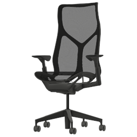 Herman Miller Cosm Graphite High Back Chair, Height Adjustable Arms