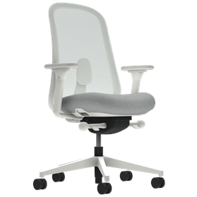 Herman Miller Lino Office Chair Aristotle Grey, Mineral Base, Fully Adjustable Arms