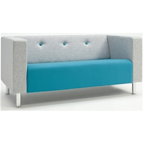 Verco Jensen Retro-style Two Seater Sofa