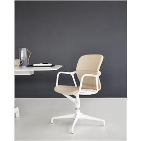 Herman Miller Keyn Fully Upholstered Meeting Chair, 4 Star Base
