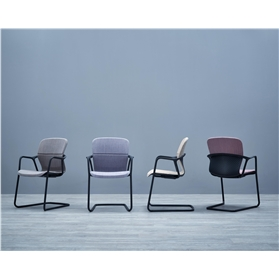 Herman Miller Keyn Fully Upholstered Meeting Chair, Cantilever Base