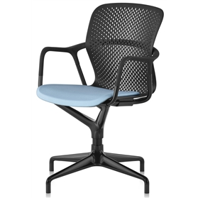Herman Miller Keyn 4 Star Pedestal Chair, Painted Base