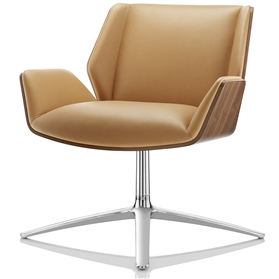 Boss Design Kruze Leather Lounge Chair Low Back