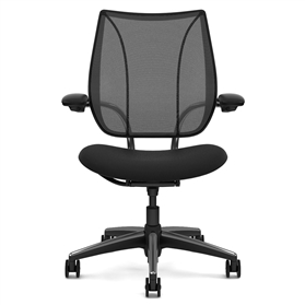 Humanscale Liberty Mesh Back Chair Polished with Black Trim