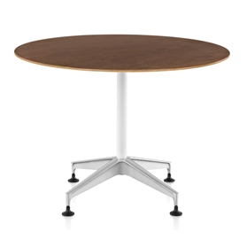 Herman Miller Setu Walnut Round Meeting Height Table