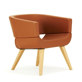 Allermuir Lola Wood Chair - 4 Wood Legged Frame