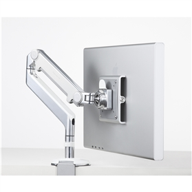 Humanscale M2 Monitor Arm, Polished/White with Clamp