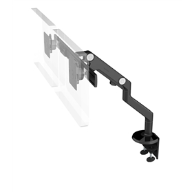 Humanscale M8 Monitor arm with Crossbar, Black