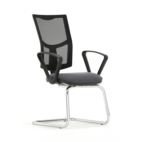Torasen Mercury Mesh Cantilever Visitors Chair