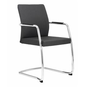 Elite Moda Fully Upholstered Full Back Cantilever Chair