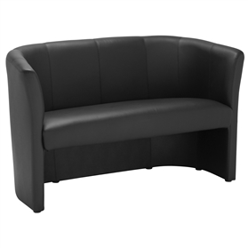 Elite Nero Two Seater Leather Tub Chair