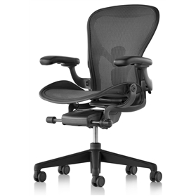 New Herman Miller Aeron Graphite Finish Size C (Large)
