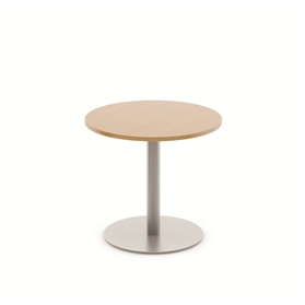 Komac Reef Round Top & Bottom 600mm Diameter White/Beech Table