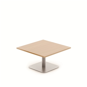 Komac Reef Square 600mm x 600mm White/Beech Coffee Table