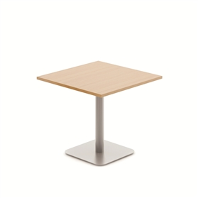 Komac Reef Square 600mm x 600mm White/Beech Meeting Table