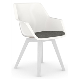 Viasit Repend Shell Chair, Four Leg Oak Base, Seat Pad