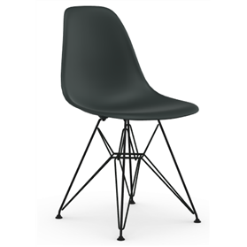 Vitra Eames DSR Chair Basalt, Coated Basic Dark Legs