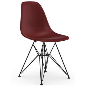 Vitra Eames DSR Chair, Oxide Red, Coated Basic Dark Legs