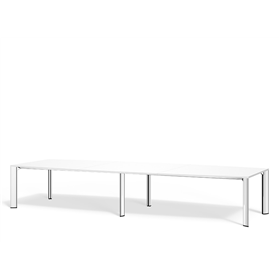 Boss Design Apollo Rectangular Table 6 Leg, Laminate Finish