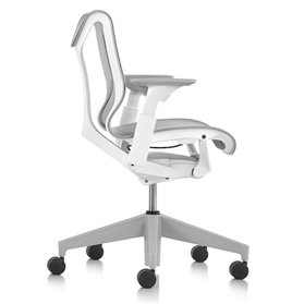 Herman Miller Low Back Cosm Chair, Studio White, Height adjustable arms