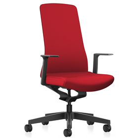 Interstuhl PUREis3 Swivel Chair, Fabric Covered Back