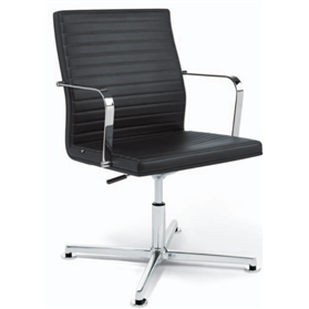 Viasit Pure Conference/Swivel Chair, Mid Height Backrest