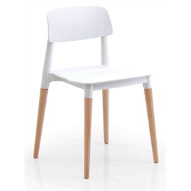 Verco Cleo Multi Use Polyprop Shell chair, Solid Oak Legs