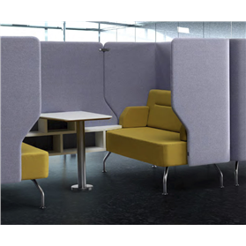 Verco Brix-up Four Seat Acoustic Workspace
