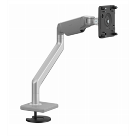 Humanscale M2.1 Monitor Arm with Bolt-Thru Mount, Silver with Grey Trim