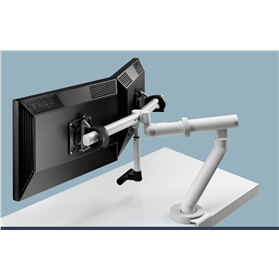 CBS Flo Plus Dual Monitor arm White