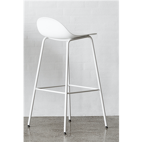 Allermuir Kin High Stool Low back, 4 leg frame Designed By Pearson Lloyd